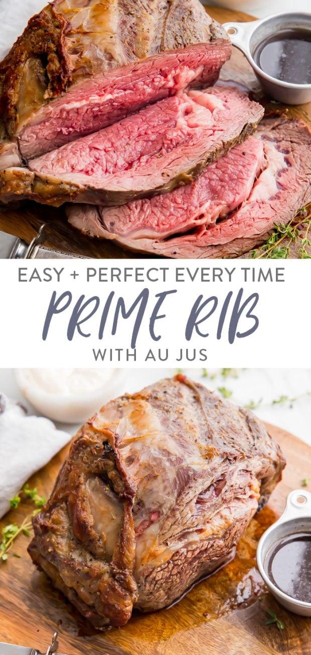 Prime Rib with Au Jus Pinterest graphic