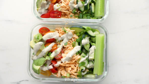 Assemble your meal prep recipe