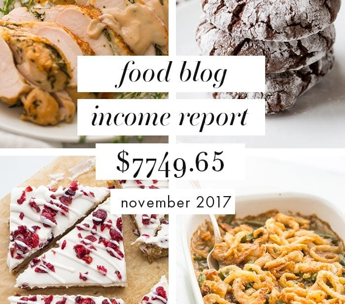 Food blog income report November 2017