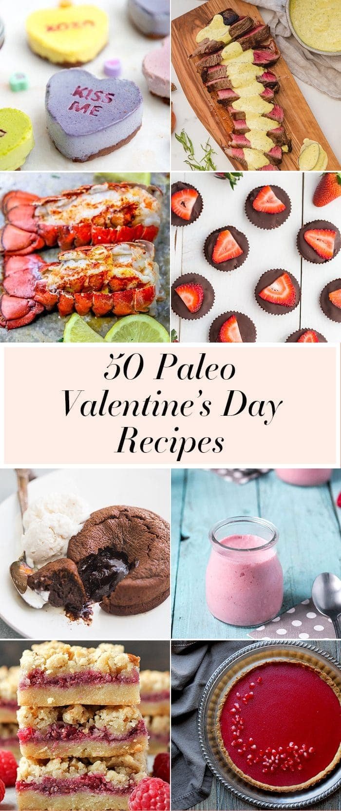 compilation of paleo valentines day recipes