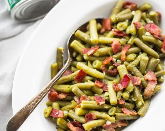 Whole30 Bacon Garlic Green Beans (Whole30 Side Dish)