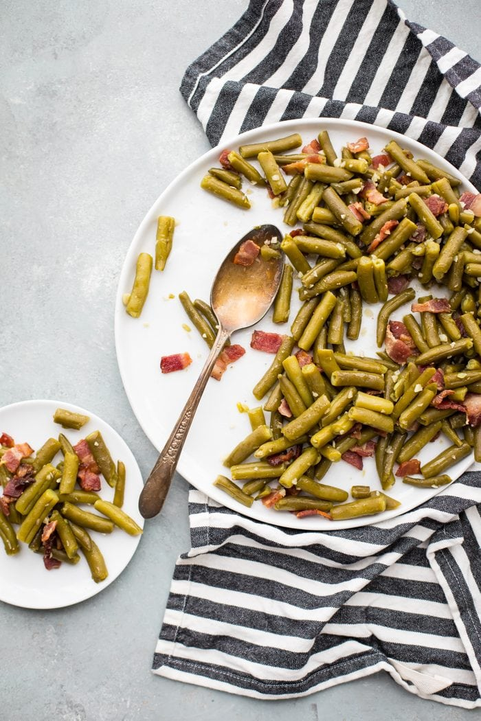 Whole30 Bacon Garlic Green Beans Whole30 Side Dish 40 Aprons