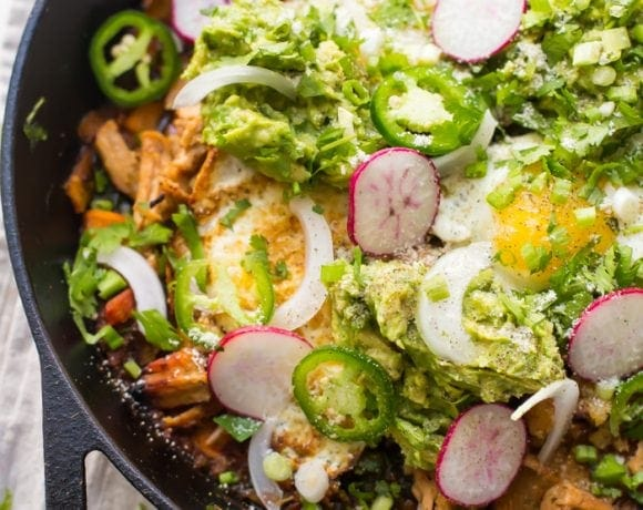 Whole30 Chilaquiles with Sweet Potatoes (Paleo, Grain-Free)