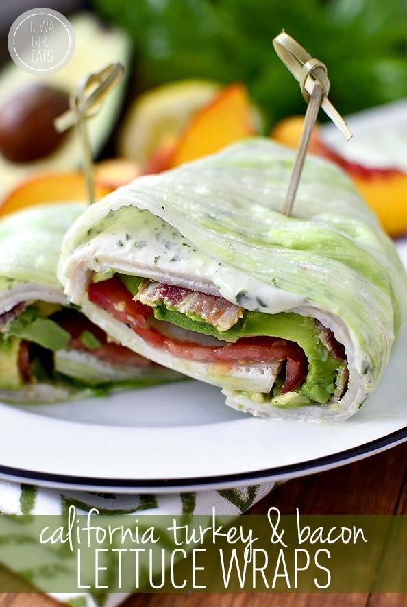 Whole30 turkey lettuce wraps