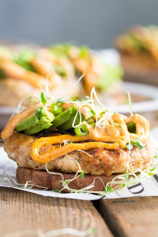 Whole30 chipotle ranch chicken burgers