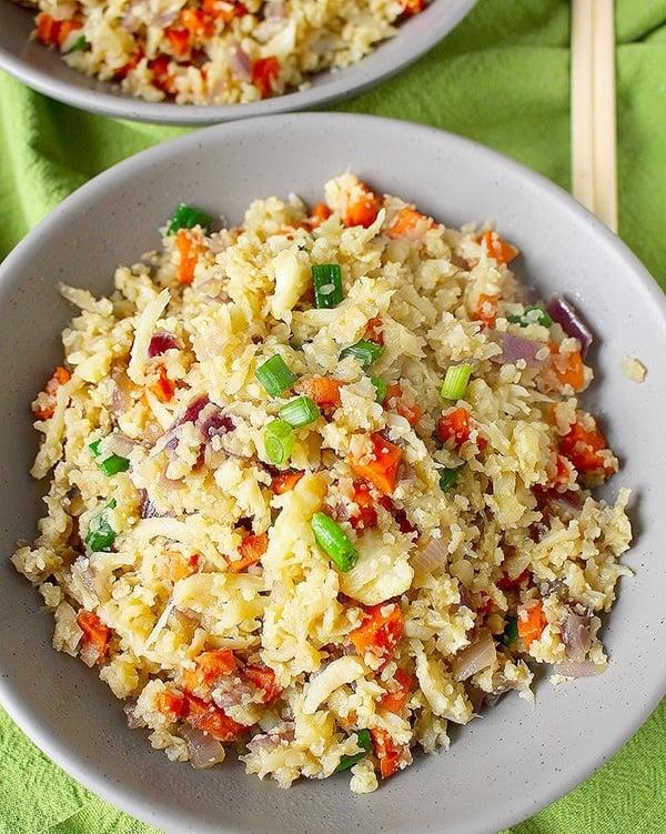 Whole30 cauliflower fried rice