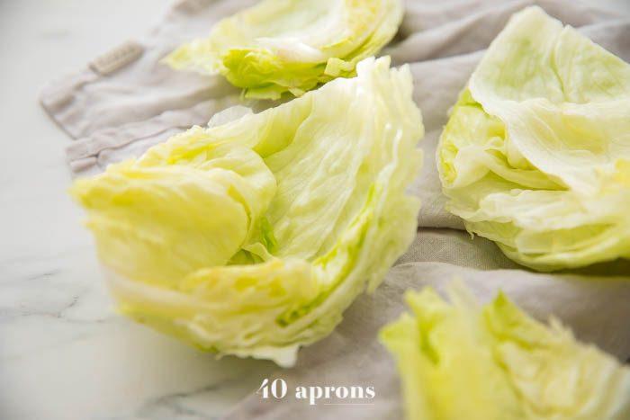 Perfect lettuce buns for lettuce bun burgers
