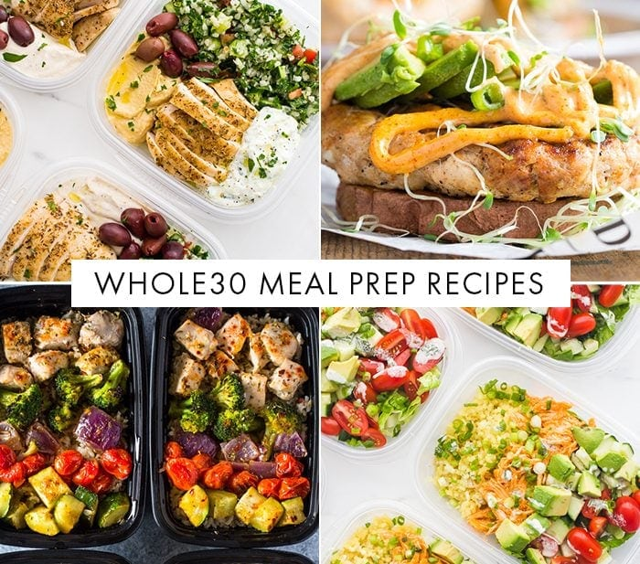 Roundup of Whole30 meal prep recipes