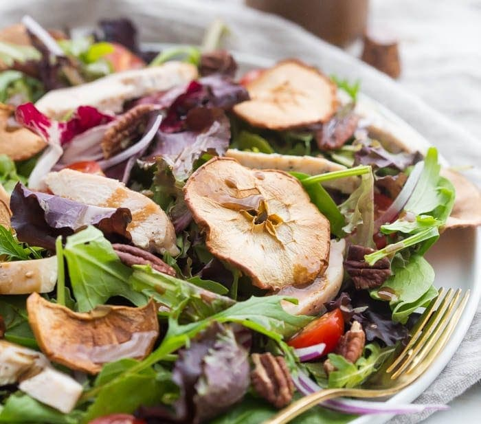 Whole30 Panera Fuji Apple Salad with Chicken (Paleo, Dairy-Free)