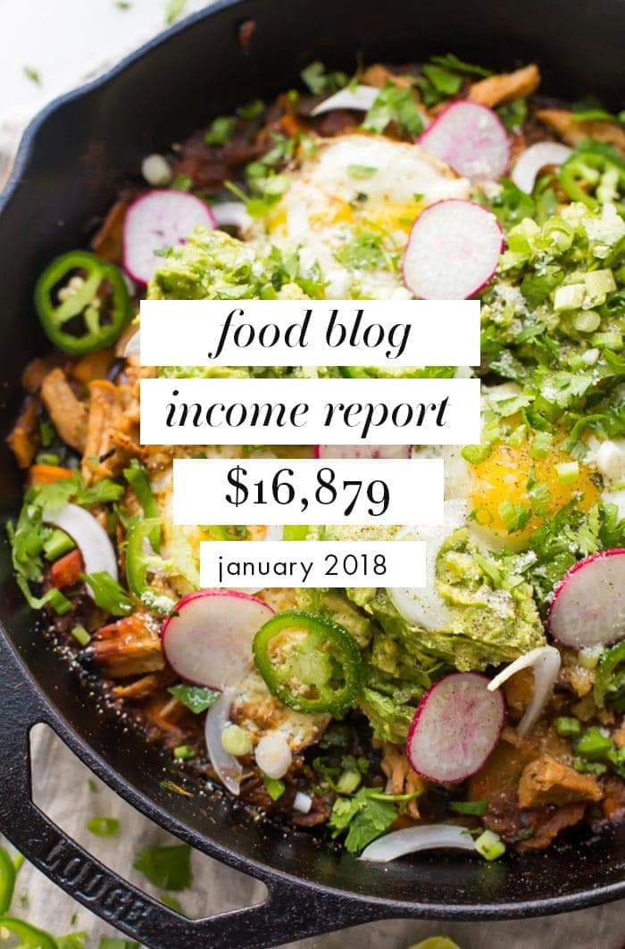 Food blog income report & traffic: January 2018