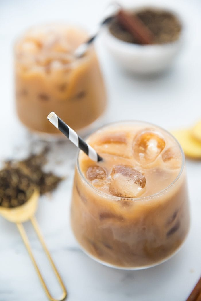Iced dirty chai with Wholesome Organic Stevia