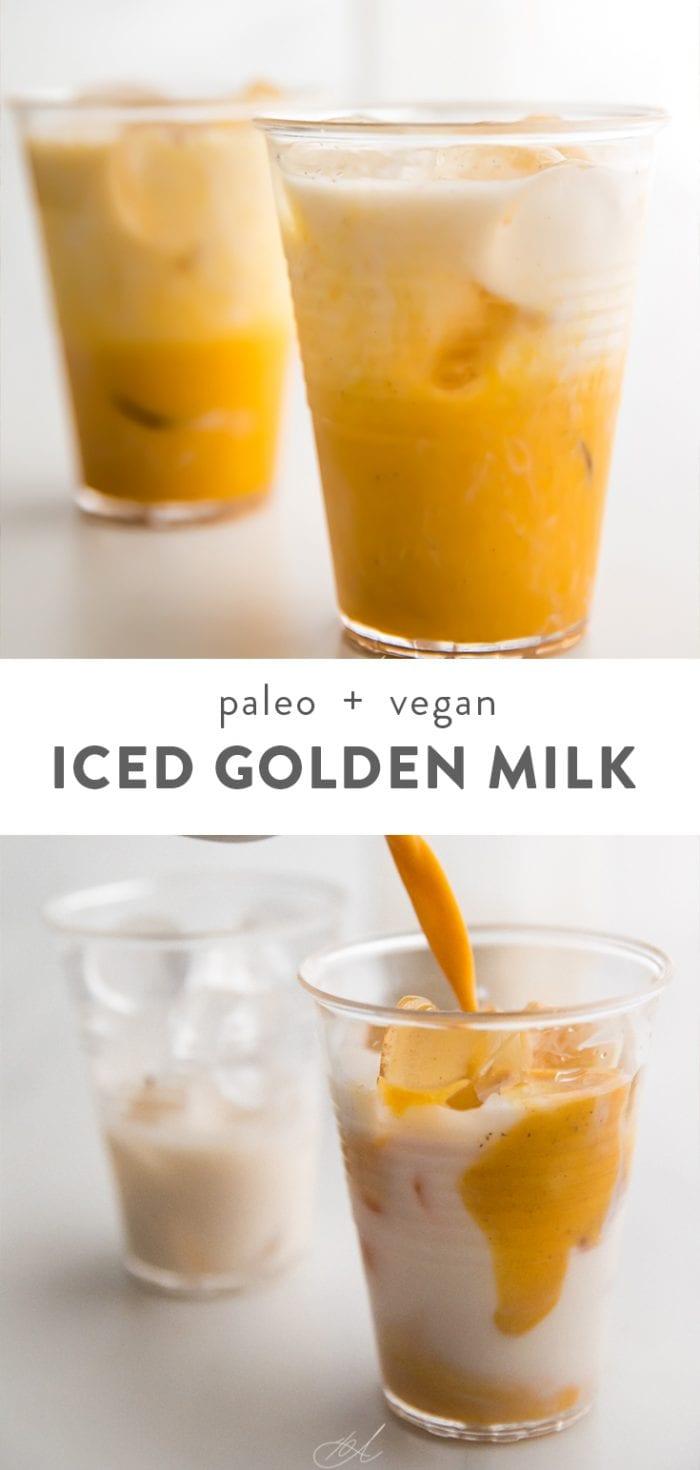 Iced golden milk Pinterest graphic