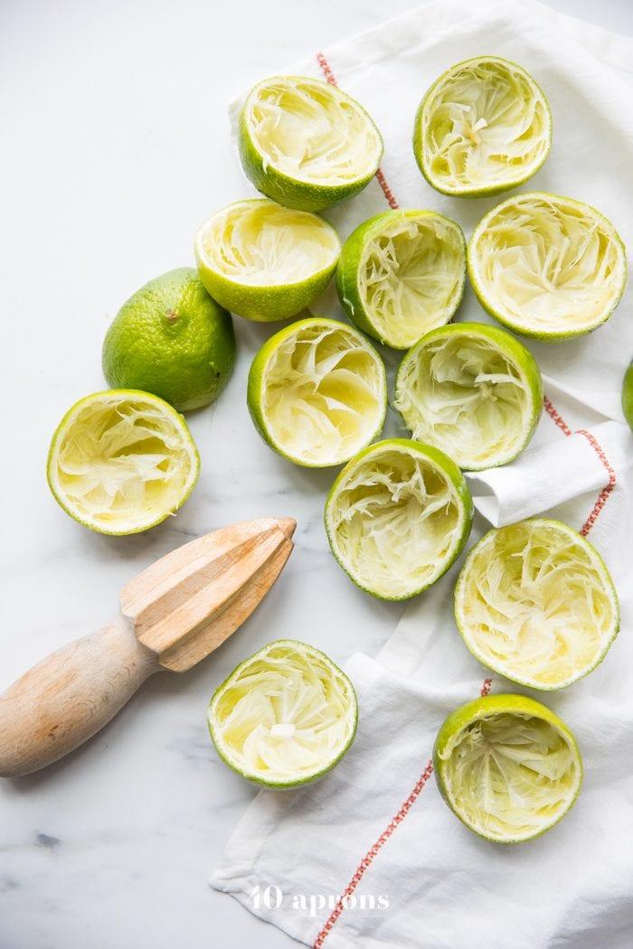 Limes for paleo vegan no bake margarita bars