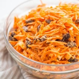 Whole30 carrot and raisin salad