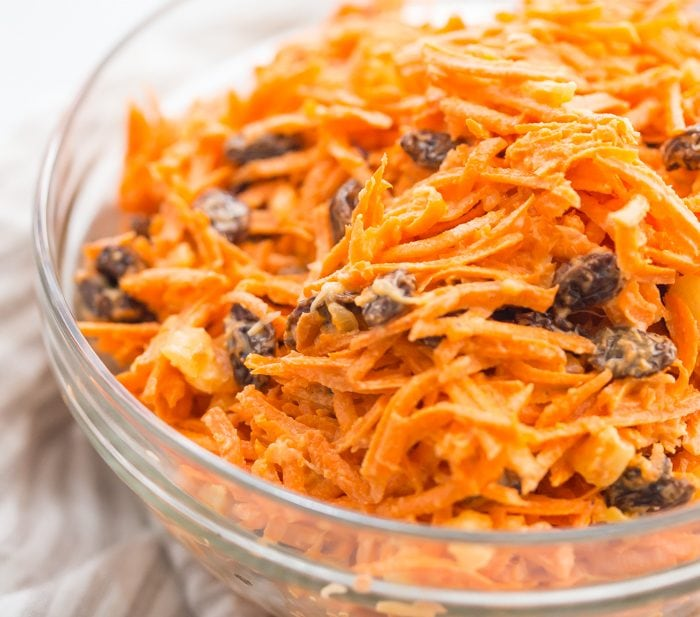 Whole30 Carrot Raisin Salad (Vegan, Paleo)
