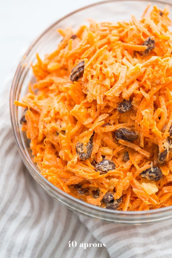 Whole30 carrot raisin salad