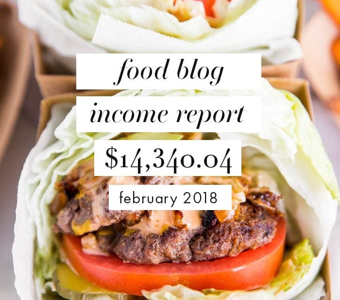 Food blog income report for February 2018