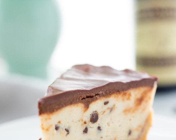 Vegan No Bake Cookie Dough Cheesecake (Paleo, Raw)