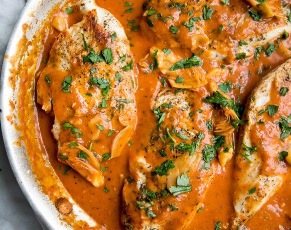 Creamy Tomato Artichoke Chicken (Whole30, Paleo)