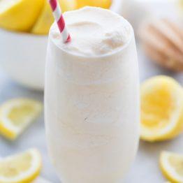 Healthy Frosted Lemonade (Paleo, Vegan) [VIDEO]