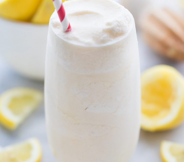 Healthy Frosted Lemonade (Paleo, Vegan)