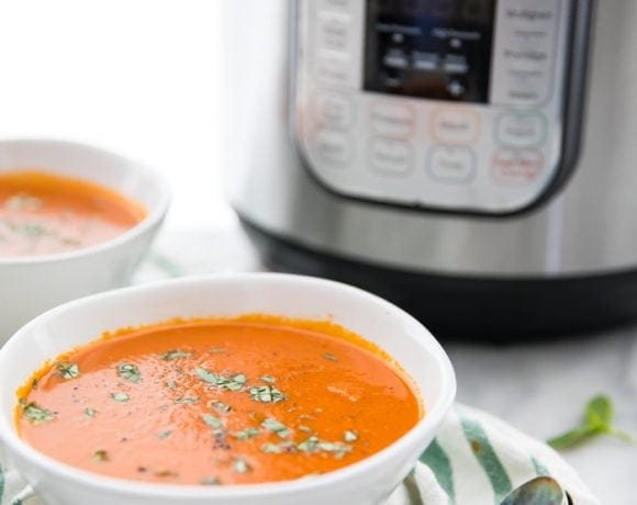 Perfect Whole30 Instant Pot Tomato Soup (Vegan)