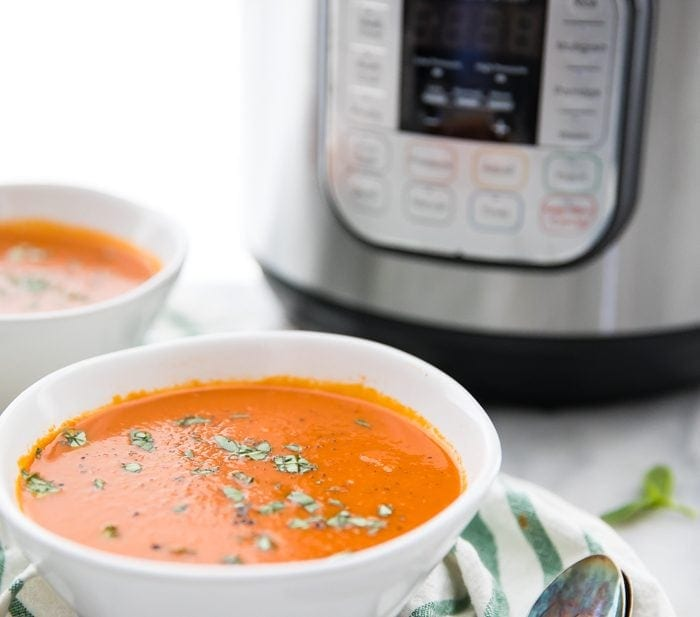 Perfect Whole30 Instant Pot Tomato Soup (Vegan)