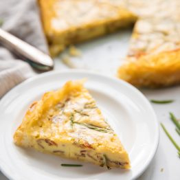 Whole30 Quiche Lorraine with Hash Brown Crust (Paleo, Gluten Free)