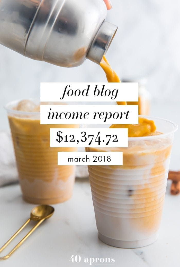 Food Blog Income Report and Traffic: March 2018