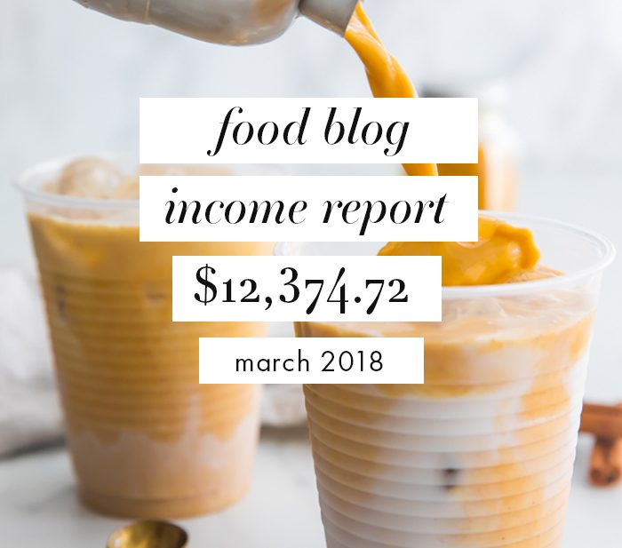 Food Blog Income Report and Traffic: March 2018 + Why I Started a Food Blog VA Agency
