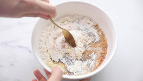 Mix together all ingredients except chocolate chips