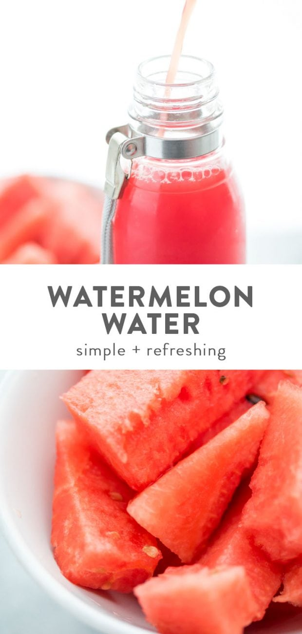 WATERMELON WATER RECIPE EASY 1 INGREDIENT 40 APRONS