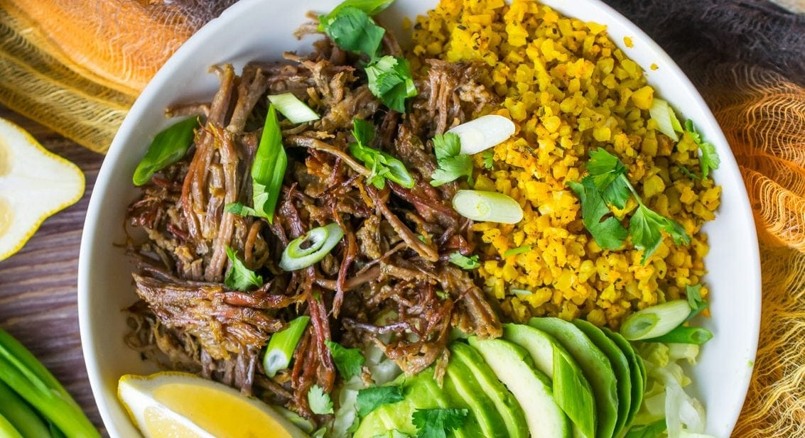Instant Pot Brisket Taco Bowls (Whole30, Paleo, Low Carb)
