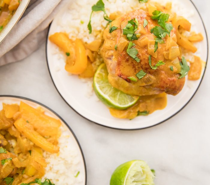 Coconut Curry Turmeric Chicken (Whole30, Anti Inflammatory)