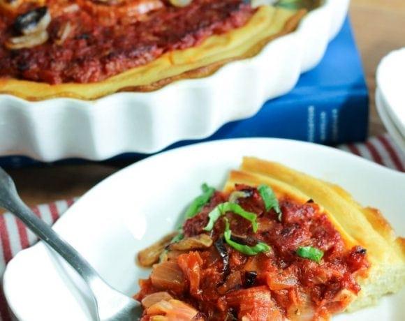 Whole30 Tomato Tart (Paleo, Grain Free)