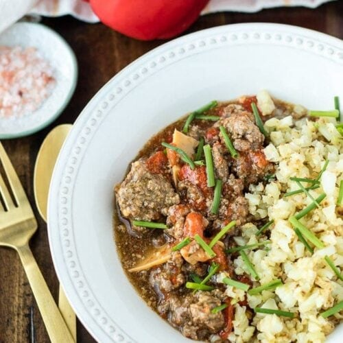 Whole30 instant pot beef with peppers