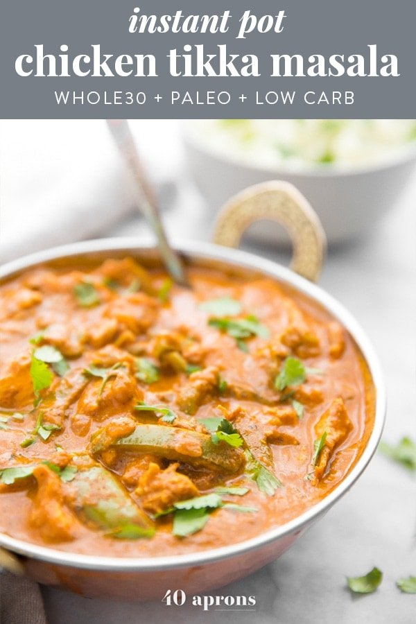 Instant Pot Chicken Tikka Masala (Whole30) Pinterest image