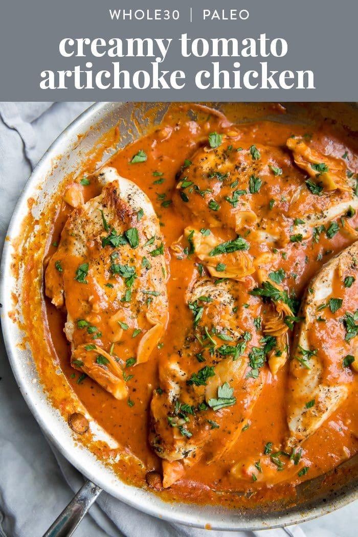 Whole30 Tomato Artichoke Chicken (Paleo, Dairy-Free)