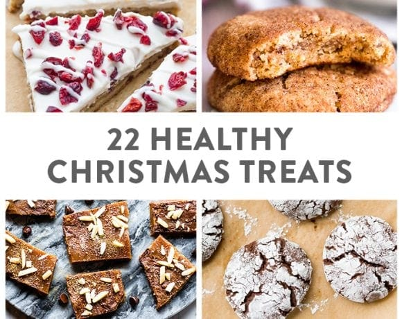 20 Healthy Christmas Treats round-up graphic