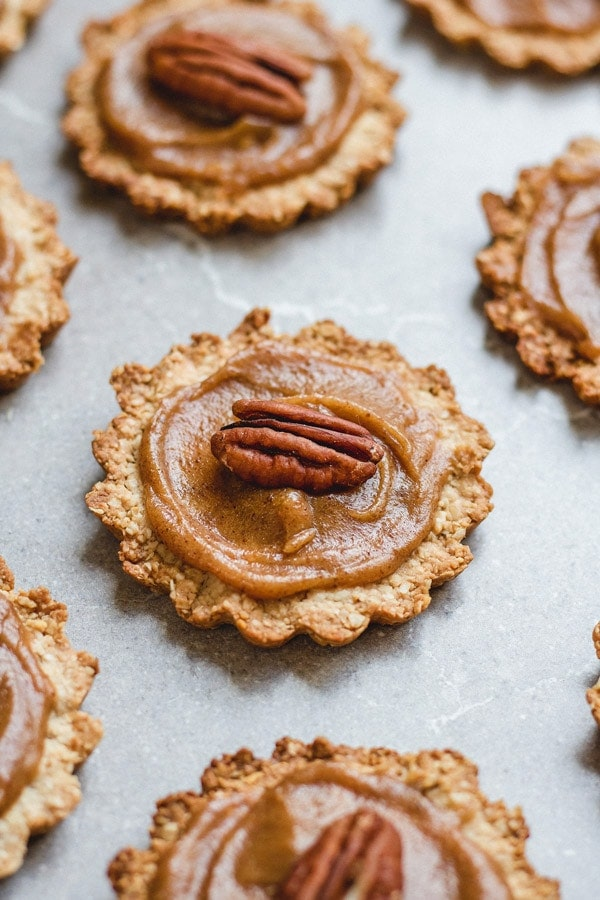 Healthy Christmas Treats Roundup Image of Healthy Mini Pecan Pies from Choosing Chia
