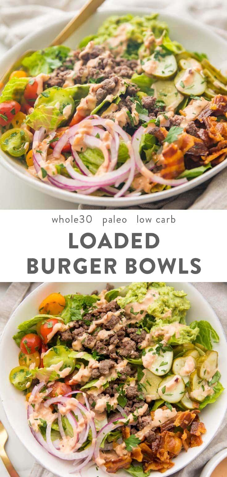 loaded burger bowls