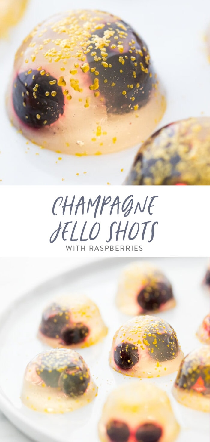 Champagne jello shots pinterest graphic