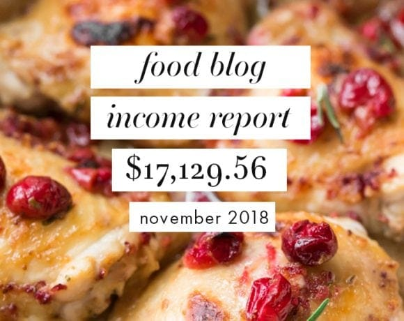 Food Blog Traffic and Income Report for November 2018 Pinterest image