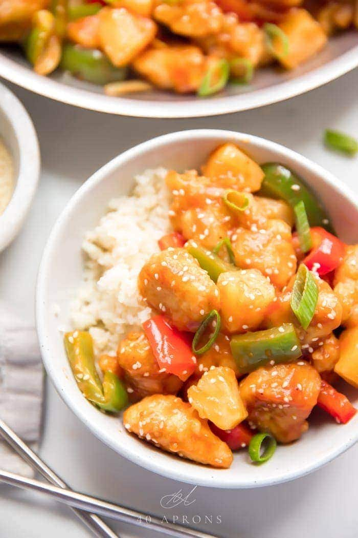Healthy Sweet And Sour Chicken Whole30 Paleo 40 Aprons