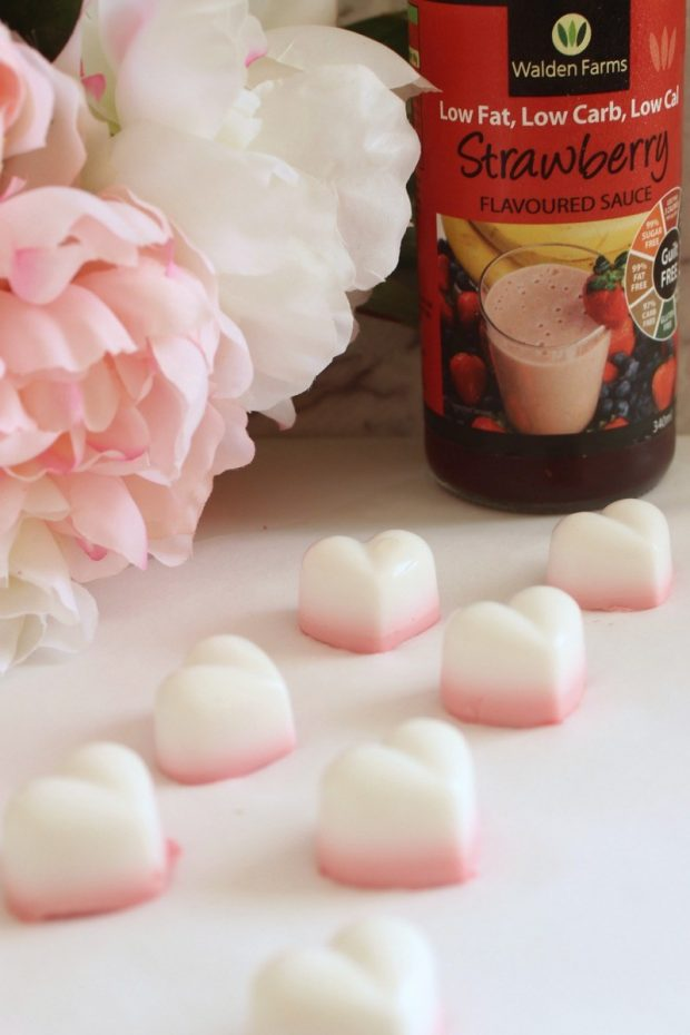 Sugar-Free strawberries and cream gummies for Valentine's Day snacks for the classroom