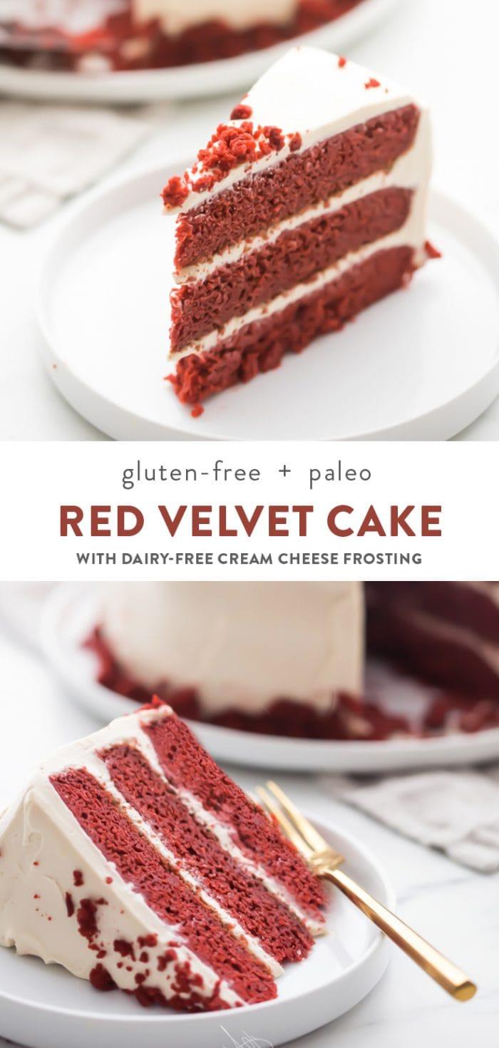 Gluten Free Red Velvet Cake (Paleo, Healthy, Grain Free, Refined Sugar Free) Pinterest image