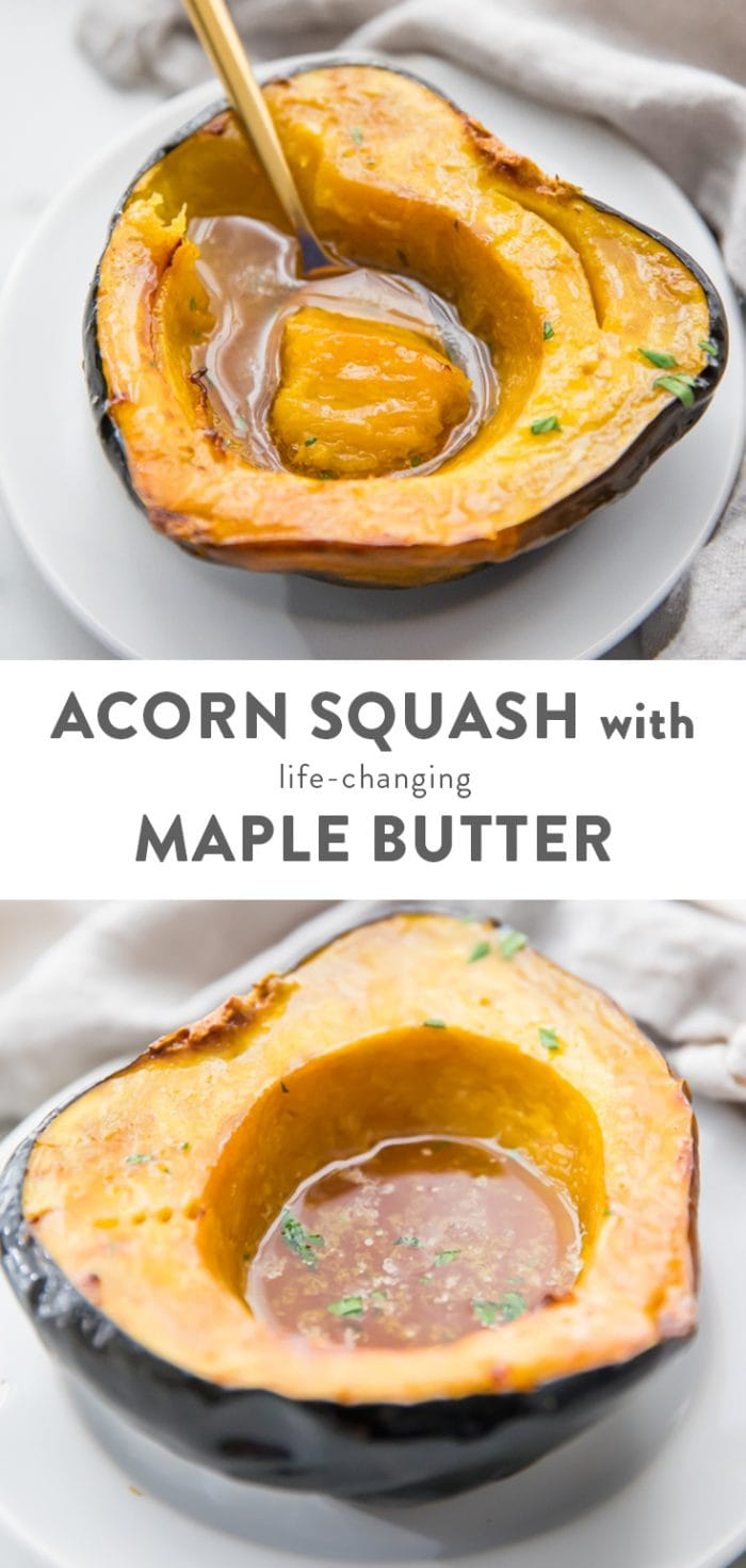 The Best Roasted Acorn Squash with Life-Changing Maple Butter Pinterest image