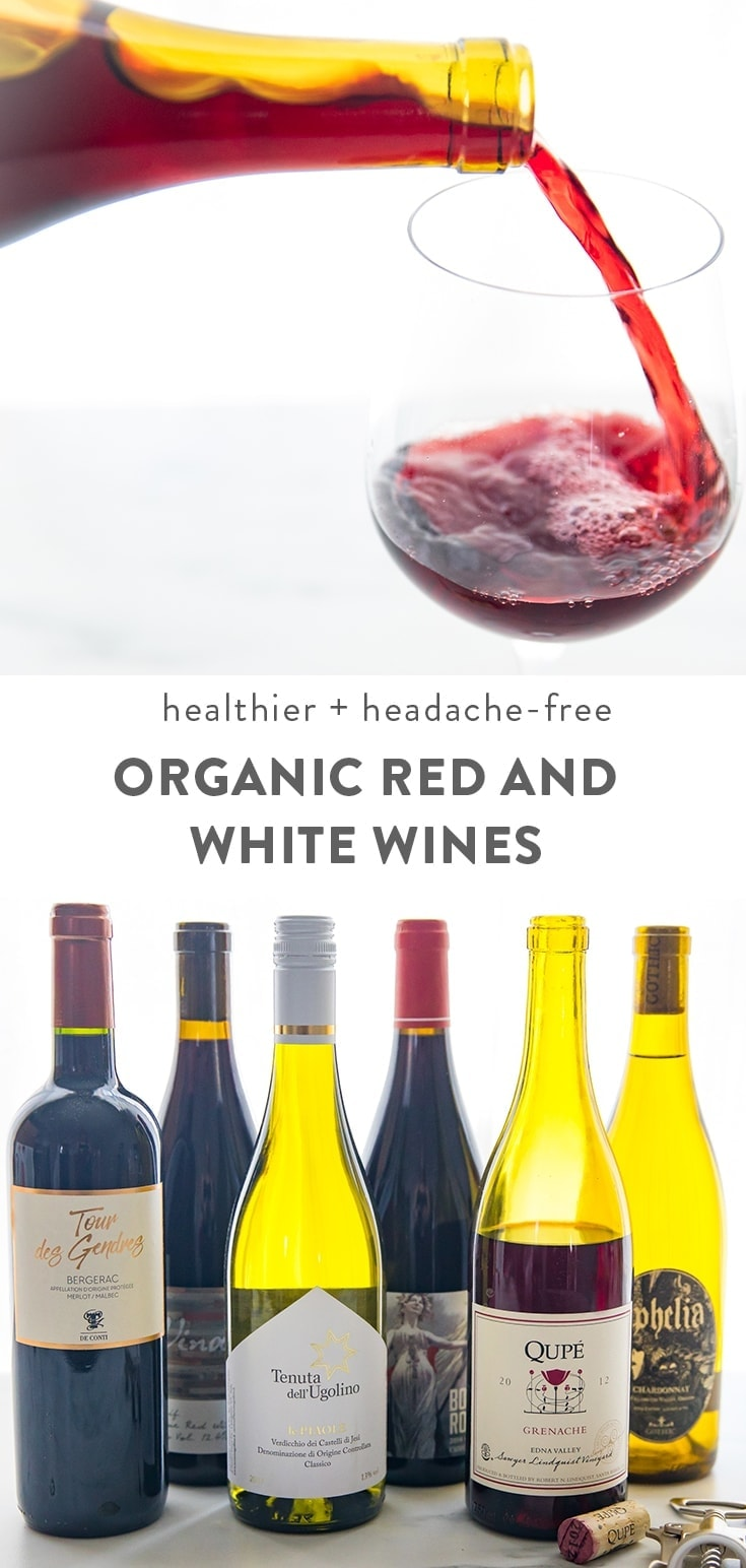 My 6 Favorite Organic Red and White Wines Pinterest image