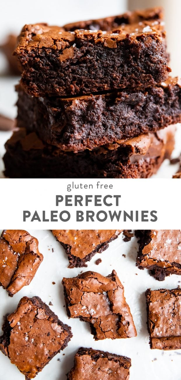 Perfect Paleo Brownies (Fudgy, Crunchy Top, Gluten Free)