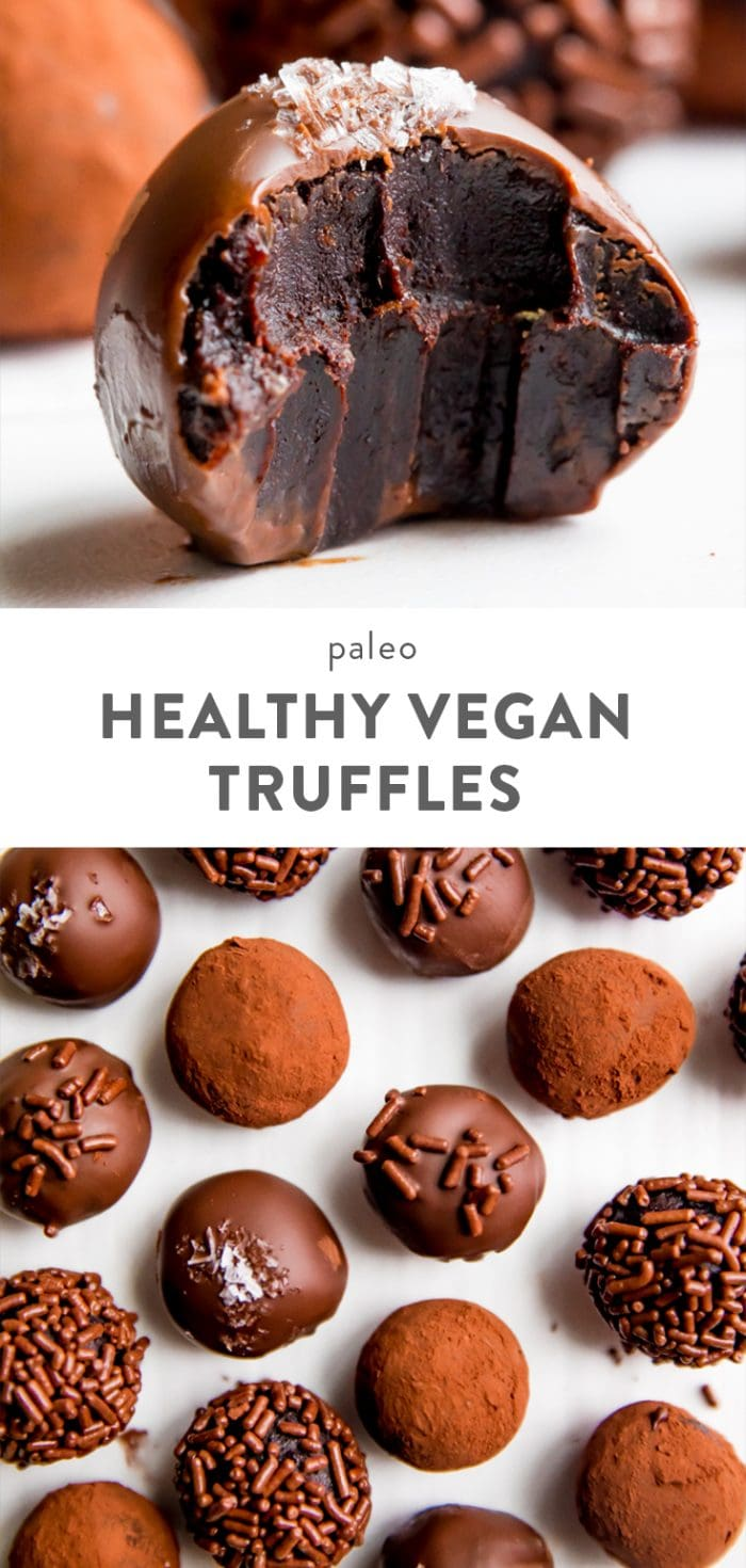 Healthy Vegan Chocolate Truffles Pinterest Image